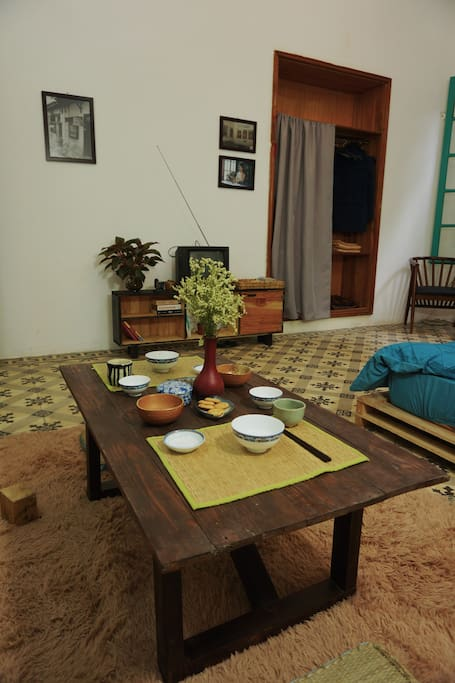 Dinning table in French bedroom (1st bedroom)