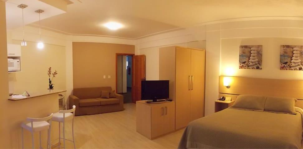 Apartamento Flat Casal + Sofá Cama - Itajubá - อพาร์ทเมนท์