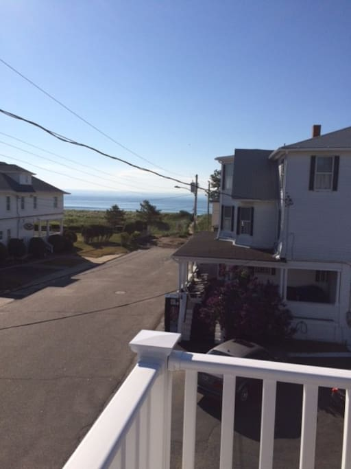 View of Camp Comfort Ave from the deck