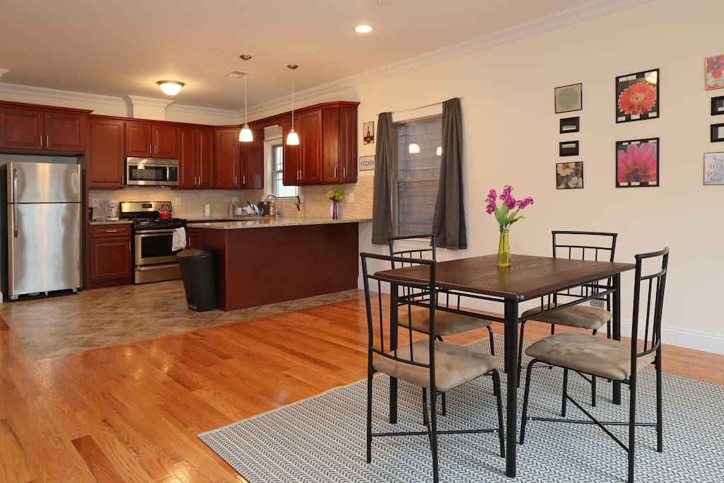Living room and kitchen (which is fully equipped)