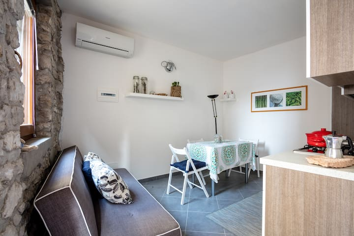 Perfect studio in the ancient village of Castello - Brenzone - Hus