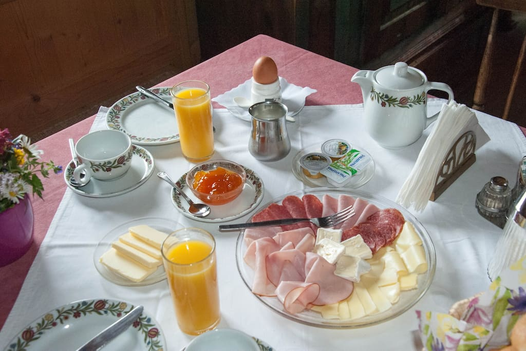 Frühstück in der Stube