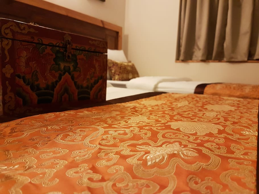 Traditional Buddhist Bed Runners