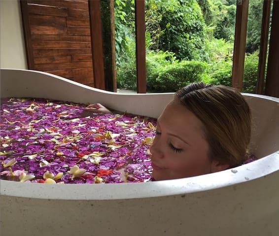 No better place to take a wondrous flower petal bath. Ahhh Bali.