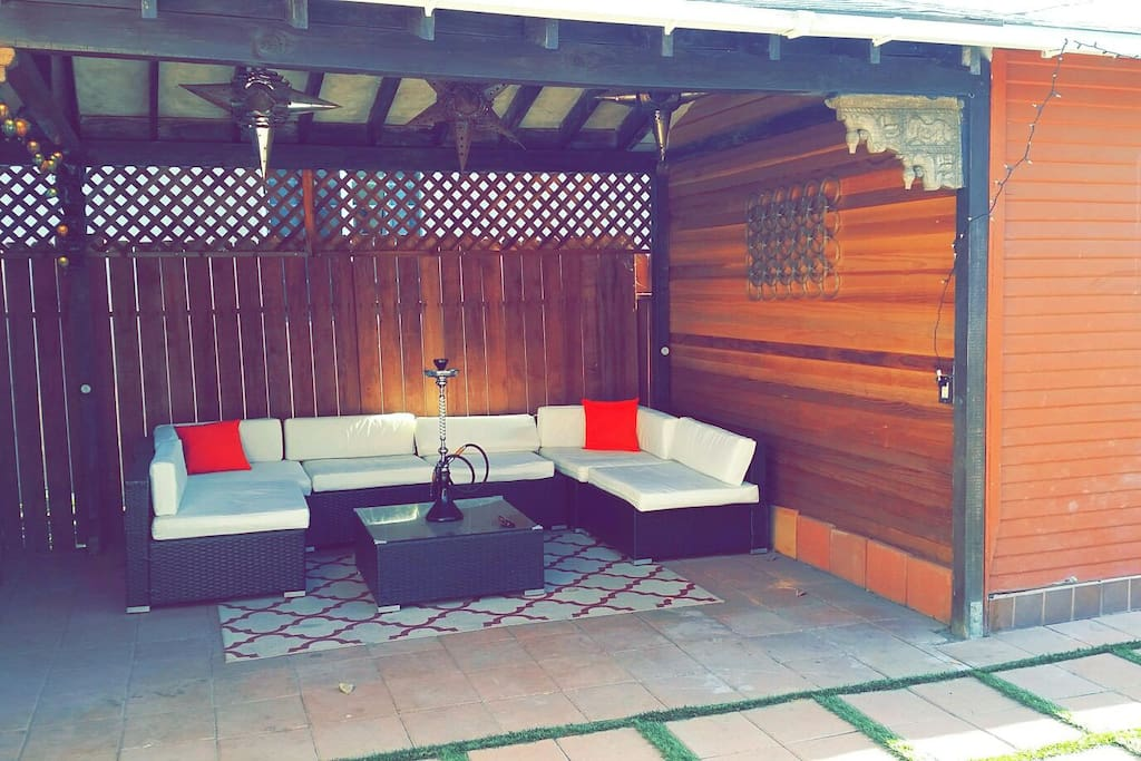 Outdoor Covered Lounge