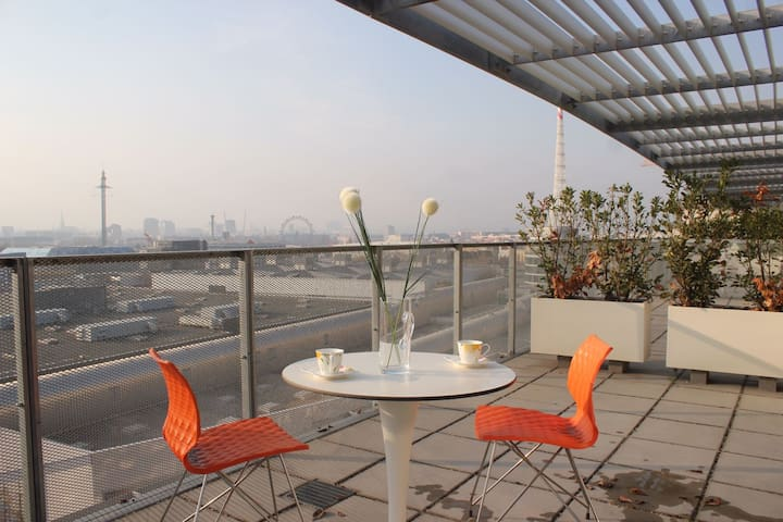 MESSE Wien - WU Wien 10th floor with terrace - เวียนนา - อพาร์ทเมนท์