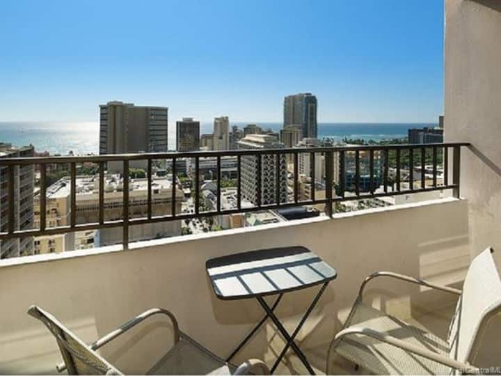 Royal Kuhio 【Great Ocean View】1month~ with parking