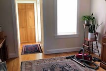 Entryway into house and private bedroom
