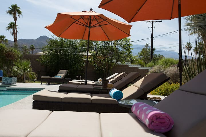 Lounge in style as your admire the mountain view