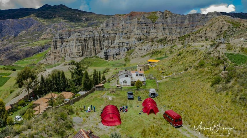 Camping with a view ! Valle de las Animas, Bolivia