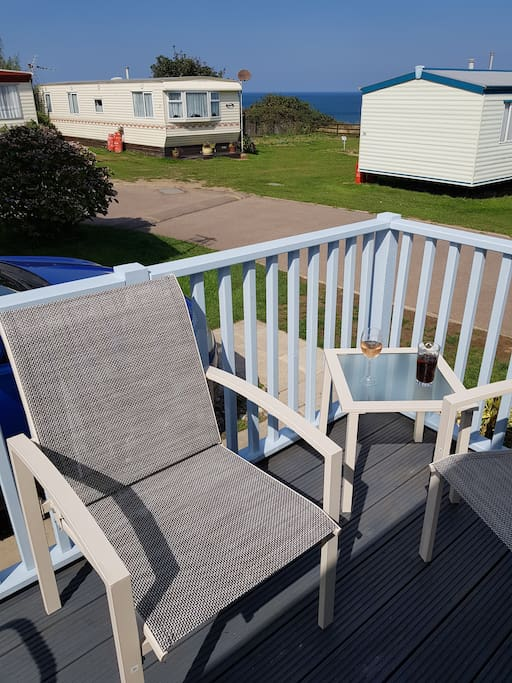 Lovely sea view from decking area