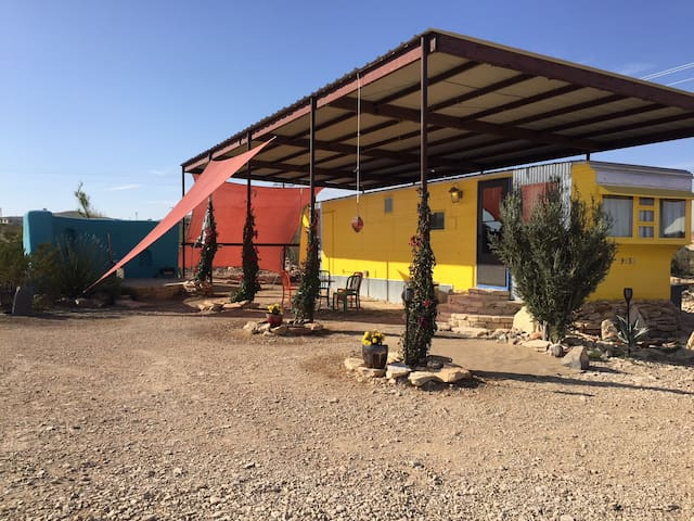 Yellow Submarine in Terlingua Ghosttown