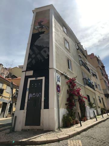 The end of Trail, connaissez vous? Oui, à Lisbonne, les Street-Art artistes sont extrêmement intellos.