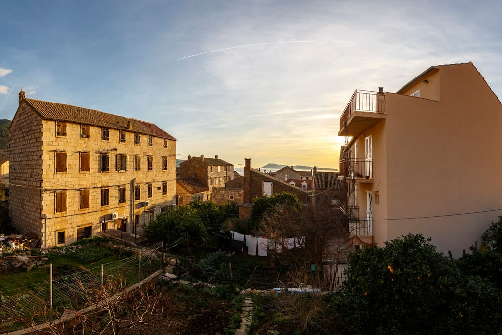 View from the terrace of  apartment .
