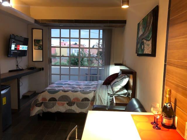 Habitación, entrada independiente Metepec y Toluca