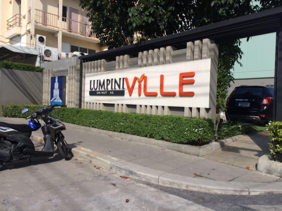 In front of Condo Lumpini Ville E