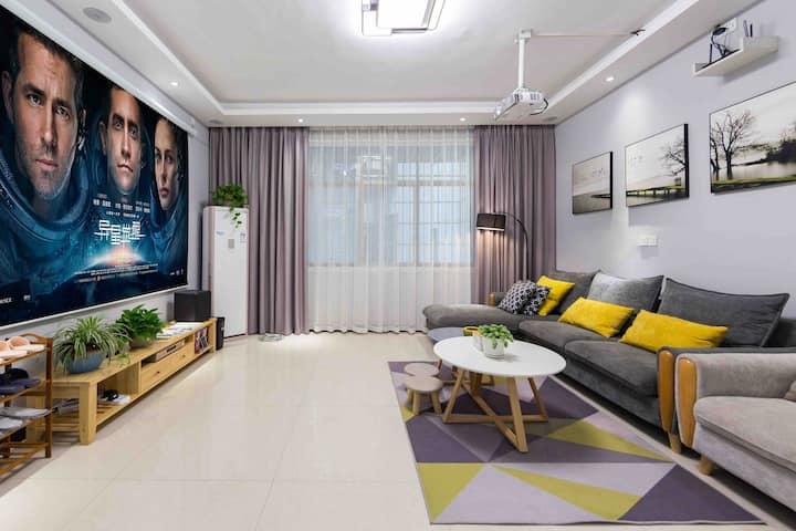古城~公寓2 北欧冷色 三室两厅两卫 南华大桥近江边 免费停车一台