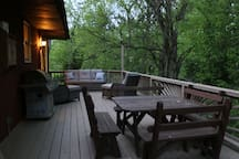 Porch with Grill, Lounge set, and Picnic table