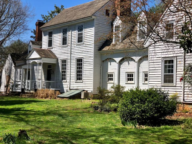 """The original """"front"""" of Hollymead House. When you drive up now, you'll see  what was originally the back of the house!"""