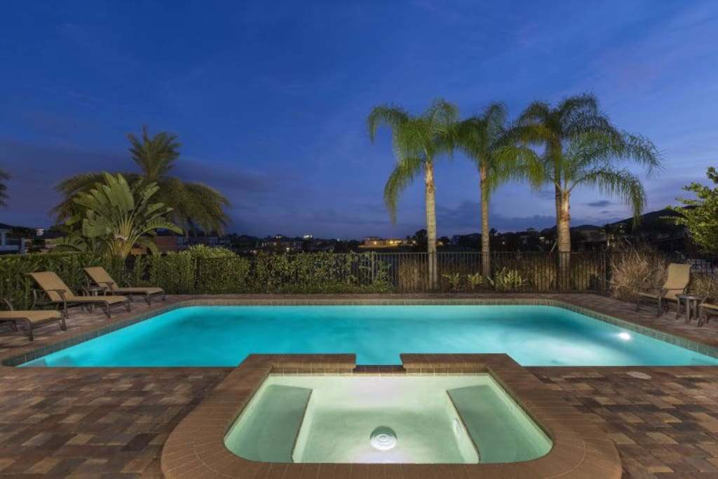Enjoy a refreshing dip any evening during your vacation