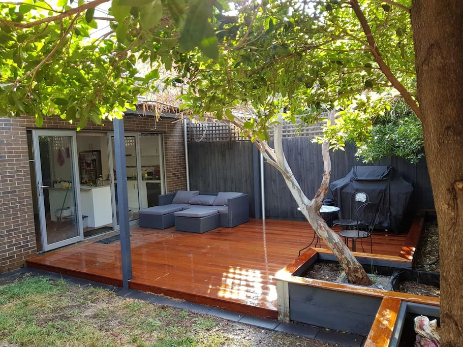 North facing backyard with BBQ for use