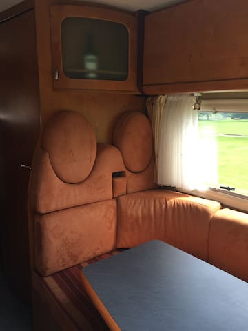 Very comfortable living space & seat belts for sitting in back