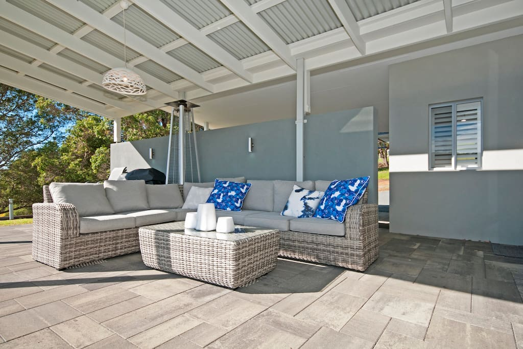 Outdoor area with views