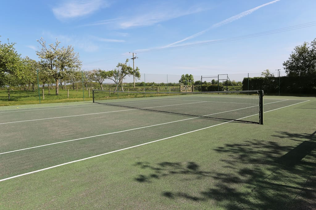 The tennis court is available for your use except on Friday mornings and Saturday mornings