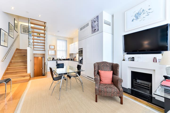 Splendid 3 bed with roof terrace in leafy Pimlico