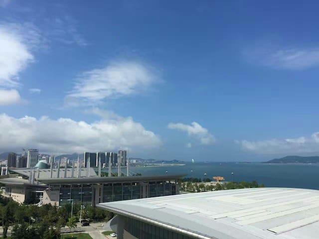躺在床上看海上日出,看刘公岛,看大海的海景公寓 - Weihai Shi - Byt
