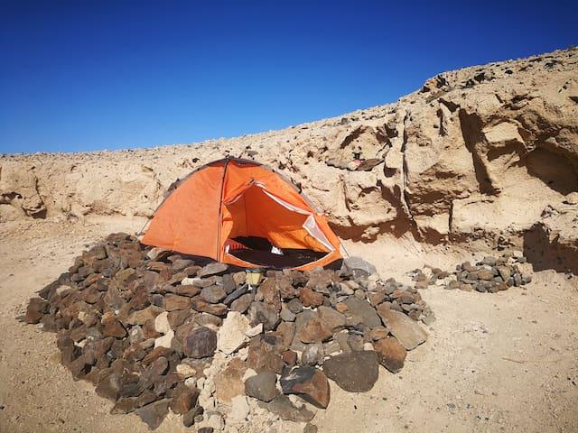 Wild camping on the nice beach-one bilion stars