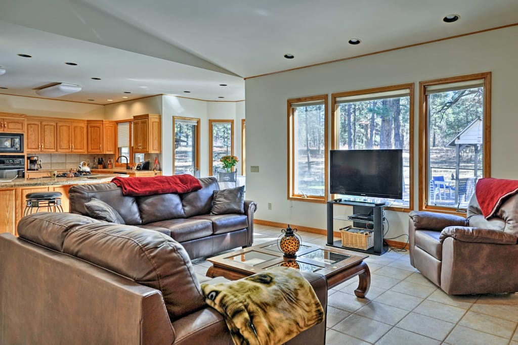 There's plenty of room to stretch out and relax throughout 3,200 square feet.