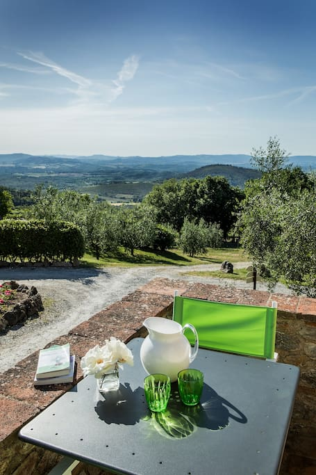 Ripostena, Apt8_CasaVecchia  Small panoramic terrace by entrance - Terrazzino panoramico ingresso