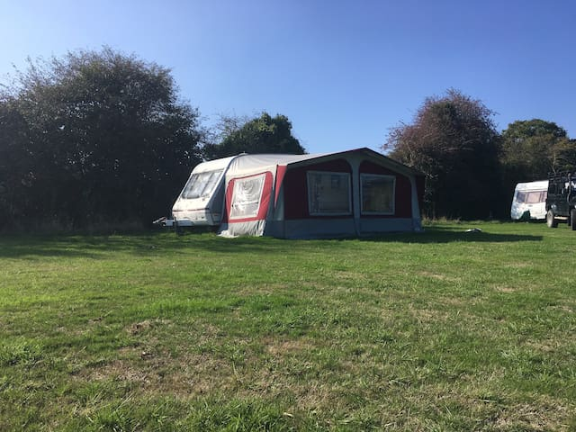 "Swift Caravan and Awning ""SET UP READY"""