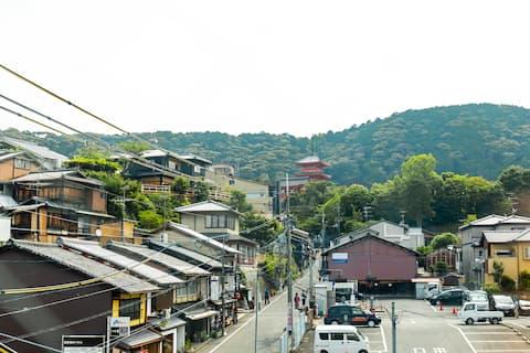 1min>Kiyomizu temple/15min>Gion by walk☆Max 4ppl♪