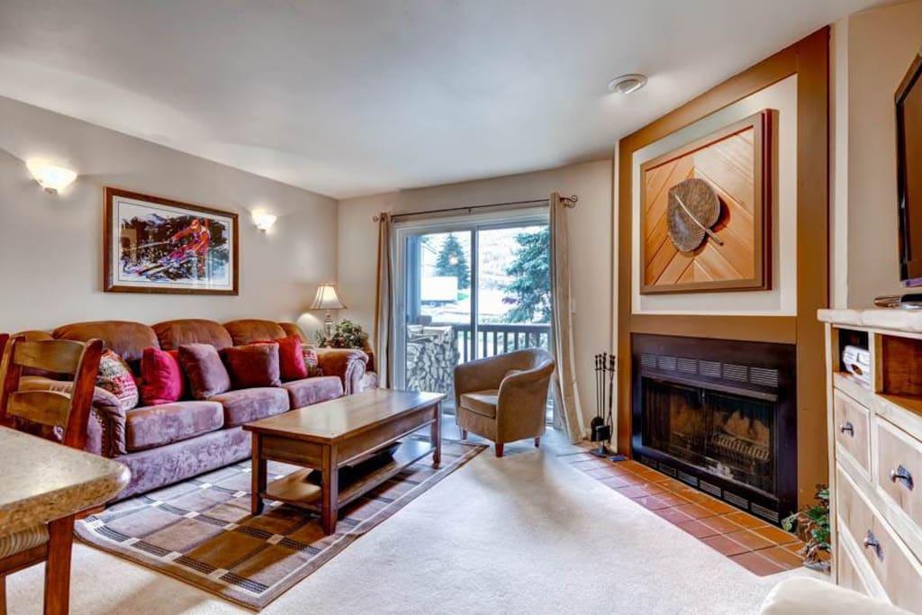 Powder Pointe #201A Living Area