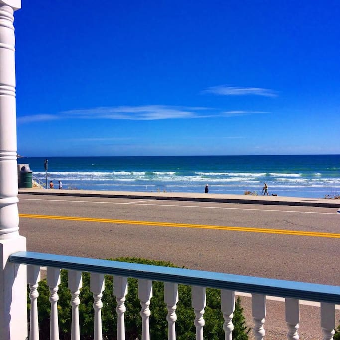 View from front of wraparound porch! Sit and relax in your rocking chairs with the Atlantic as your front yard
