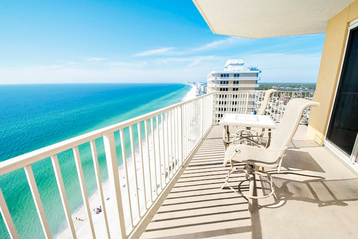 Beachfront for 8 at Treasure Island 2212! 3BR *OPEN (PHONE NUMBER HIDDEN)lcony - Panama City Beach - Apartment