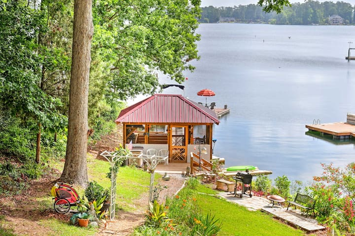 Soak up the South Carolina sun from your private dock.