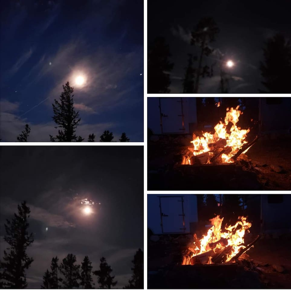 Firepit and night sky are amazing!