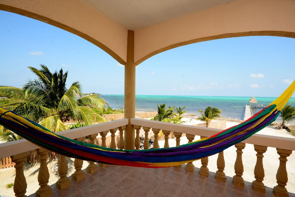 Same Deck but a relaxing hammock while viewing Caribbean