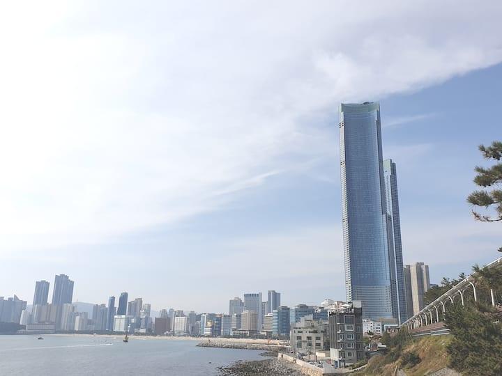 Haeundae Beach/바다궁전/15평/원룸/시티뷰