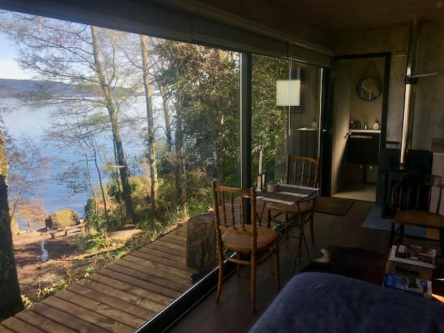 Refugio en Lago Colico con playa privada
