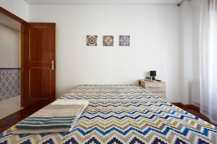 Bedroom - nightstand, natural light
