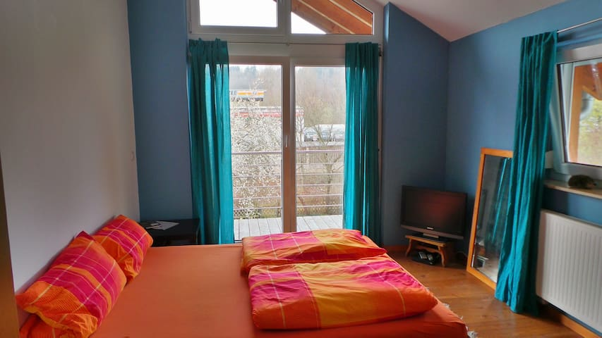 Cosy double-room with bathroom - Hechingen - Hus