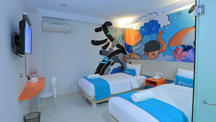 FIZZ Hotel Lombok - Fresh pop art  property