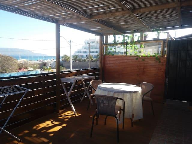 Depto.# 2 segundo piso terraza 4 pers.pasos playa
