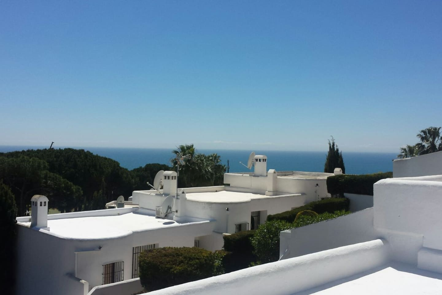 the view from the roof to gibraltar
