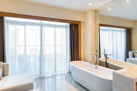 【栖息谷】秀山岛秀水湾观海一居室,私人海景公寓|浴缸|阳台,近秀山岛滑泥公园