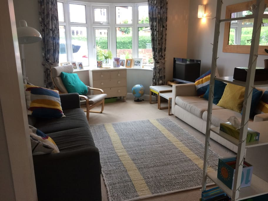 Comfortable family living room with TV, DVD, Wi-Fi and lots of toys